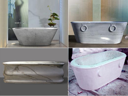Modern and antique marble baths